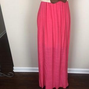 It's Dresses - Women's Sz 1X It's Pink Halter Dress 👗 Maxi